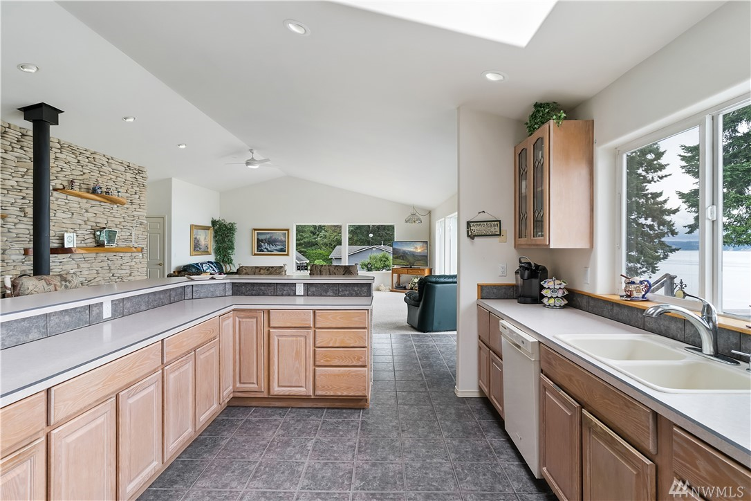 Kitchen to Family Room View